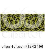 Clipart Of A Border Of Black And Green Rings Royalty Free Vector Illustration by Lal Perera