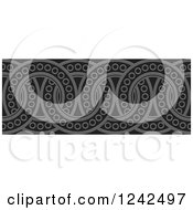 Clipart Of A Border Of Black And Gray Rings Royalty Free Vector Illustration by Lal Perera