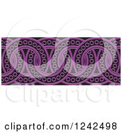 Clipart Of A Border Of Black And Purple Rings Royalty Free Vector Illustration by Lal Perera