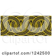 Clipart Of A Border Of Black And Yellow Rings Royalty Free Vector Illustration by Lal Perera