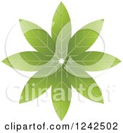 Clipart Of A Green Flower Royalty Free Vector Illustration