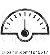 Clipart Of A Black And White Dash Board Speedometer Royalty Free Vector Illustration