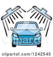 Blue Automobile In A Car Wash 2