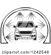 BAck And White Automobile In A Car Wash 3