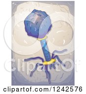 Clipart Of A Virus Structure Royalty Free Vector Illustration