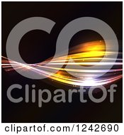 Clipart Of Colorful Twisting Lights On Black Royalty Free Vector Illustration