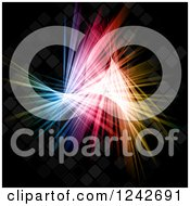 Clipart Of Colorful Lights On Black Royalty Free Vector Illustration