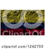 Clipart Of A 3d Dark Crumpled Silky Colombian Flag Royalty Free Illustration