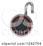 Clipart Of A 3d Open Combination Lock Over White Royalty Free Illustration
