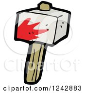Clipart Of A Bloody Club Royalty Free Vector Illustration by lineartestpilot