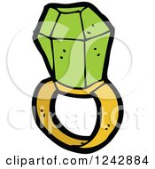 Clipart Of A Green Ring Royalty Free Vector Illustration by lineartestpilot
