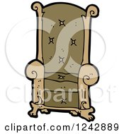 Clipart Of A Throne Royalty Free Vector Illustration