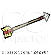 Clipart Of An Archery Arrow Royalty Free Vector Illustration by lineartestpilot