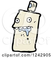 Clipart Of A Drooling Spray Paint Can Royalty Free Vector Illustration by lineartestpilot