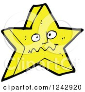 Clipart Of A Yellow Star Character Royalty Free Vector Illustration by lineartestpilot