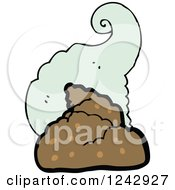 Clipart Of A Stinky Pile Of Poop Royalty Free Vector Illustration