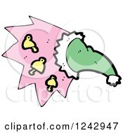 Clipart Of A Magic Hat With Bells Royalty Free Vector Illustration