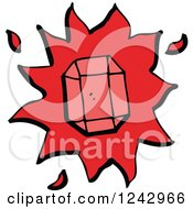 Clipart Of A Magic Ruby Gemstone Royalty Free Vector Illustration