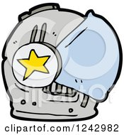 Clipart Of A Helmet Royalty Free Vector Illustration by lineartestpilot