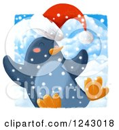 Jolly Christmas Penguin In The Snow
