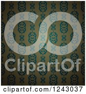 Clipart Of A Vintage Wallpaper Pattern Background Royalty Free Vector Illustration by lineartestpilot