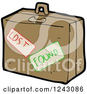 Clipart Of A Lost And Found Briefcase Royalty Free Vector Illustration