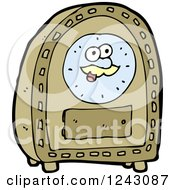 Clipart Of A Happy Clock Royalty Free Vector Illustration