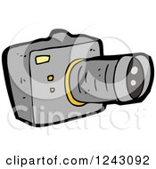 Clipart Of A Camera Royalty Free Vector Illustration by lineartestpilot