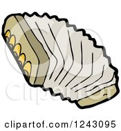 Clipart Of A Brown Accordion Royalty Free Vector Illustration