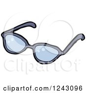 Clipart Of A Pair Of Glasses Royalty Free Vector Illustration
