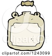 Clipart Of A Brown Pot Royalty Free Vector Illustration