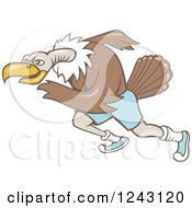 Clipart Of A Running Vulture Royalty Free Vector Illustration by patrimonio