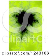 Clipart Of A Bright Green Mandelbrot Fractal Background Royalty Free Illustration