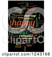 Clipart Of A Colorful Happy Tag Word Collage Royalty Free Illustration by oboy