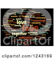 Clipart Of A Colorful Love Tag Word Collage Royalty Free Illustration by oboy