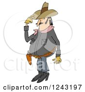 Chubby Cowboy Tipping His Hat