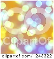Clipart Of A Seamless Boken Background With Orange And Purple Spots Royalty Free Illustration