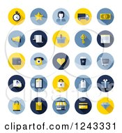 Clipart Of Round Online Shopping Icons Royalty Free Vector Illustration by elena