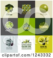 Clipart Of Olive And Oil Labels With Text Royalty Free Vector Illustration