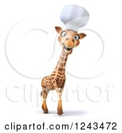 Clipart Of A 3d Happy Giraffe Chef With A Big Smile Royalty Free Illustration