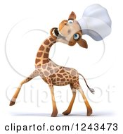 Clipart Of A 3d Giraffe Chef Laughing And Tilting His Head Back 2 Royalty Free Illustration