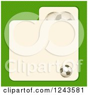 Green Soccer Ball Background With Card Text Space