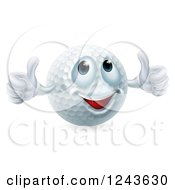 Clipart Of A Happy Golf Ball Mascot Giving Two Thumbs Up Royalty Free Vector Illustration