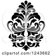 Clipart Of A Black And White Arabesque Damask Design 22 Royalty Free Vector Illustration