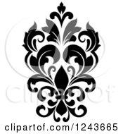 Black And White Arabesque Damask Design 24
