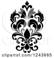 Clipart Of A Black And White Arabesque Damask Design 24 Royalty Free Vector Illustration by Vector Tradition SM