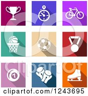 Clipart Of Colorful Sport Icons Royalty Free Vector Illustration