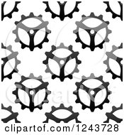 Clipart Of A Seamless Background Pattern Of Gears 5 Royalty Free Vector Illustration