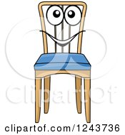 Clipart Of A Happy Cartoon Chair Royalty Free Vector Illustration by Vector Tradition SM