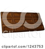 Clipart Of A Cartoon Chocolate Candy Bar Royalty Free Vector Illustration